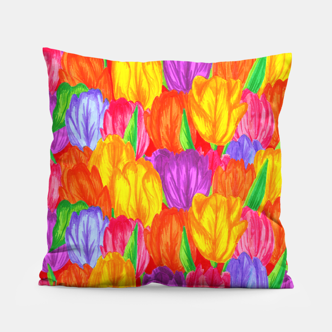 Image of Tulip Pillow - Live Heroes