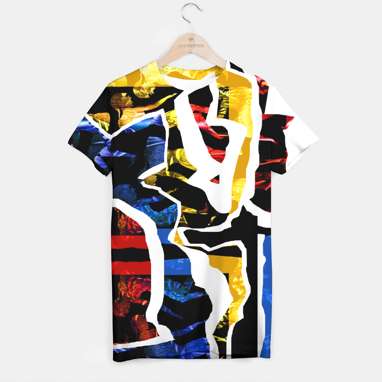 Image of Collage white T-shirt - Live Heroes