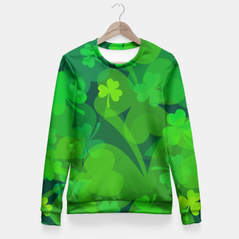 Thumbnail image of Lucky Shamrocks Fitted Waist Sweater, Live Heroes