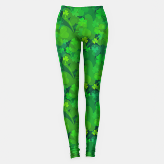 Thumbnail image of Lucky Shamrocks Leggings, Live Heroes