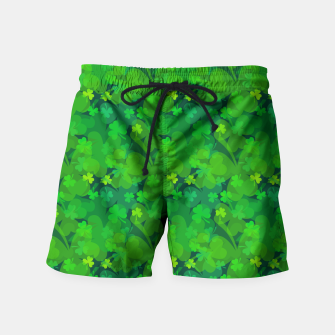Thumbnail image of Lucky Shamrocks Swim Shorts, Live Heroes