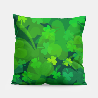 Thumbnail image of Lucky Shamrocks Pillow, Live Heroes