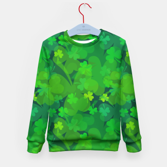 Thumbnail image of Lucky Shamrocks Kid's Sweater, Live Heroes