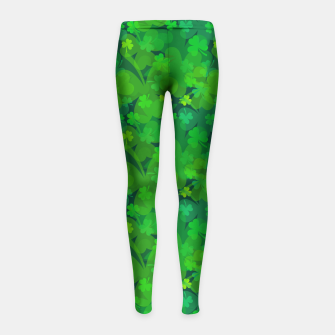 Thumbnail image of Lucky Shamrocks Girl's Leggings, Live Heroes