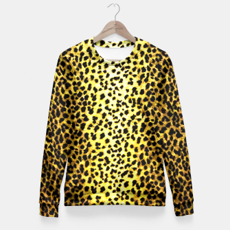 Thumbnail image of Leopard Wallpaper Print Fitted Waist Sweater, Live Heroes