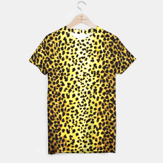 Thumbnail image of Leopard Wallpaper Print T-shirt, Live Heroes