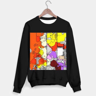 Miniatur geometric graffiti drawing and painting abstract in orange red yellow purple brown and blue Sweater regular, Live Heroes