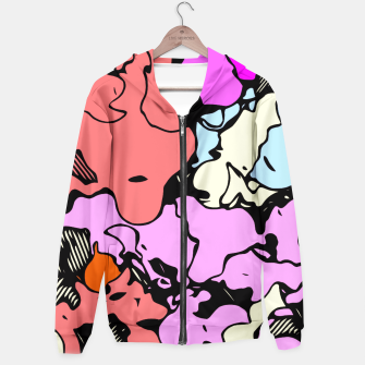 Miniatur psychedelic graffiti drawing and painting abstract in red pink purple and blue Hoodie, Live Heroes