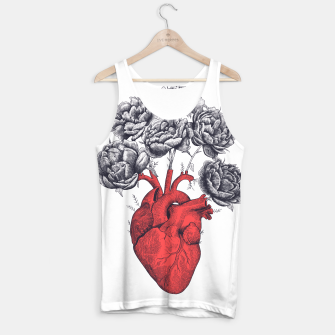Thumbnail image of Heart with peonies Tank Top, Live Heroes