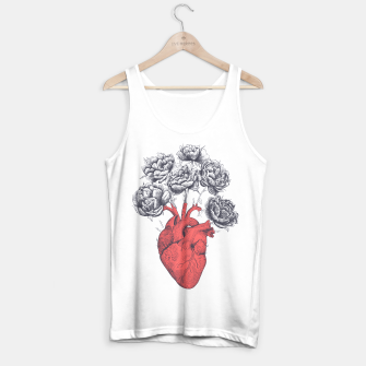 Thumbnail image of Heart with peonies Tank Top regular, Live Heroes