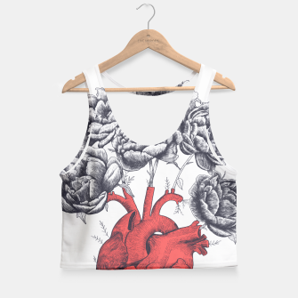 Thumbnail image of Heart with peonies Crop Top, Live Heroes