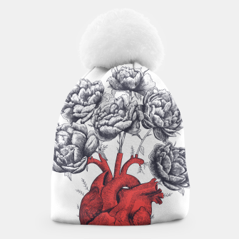 Thumbnail image of Heart with peonies Beanie, Live Heroes