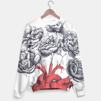 Thumbnail image of Heart with peonies Sweater, Live Heroes