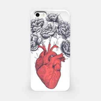 Thumbnail image of Heart with peonies iPhone Case, Live Heroes