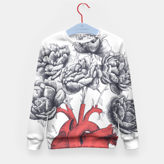 Thumbnail image of Heart with peonies Kid's Sweater, Live Heroes