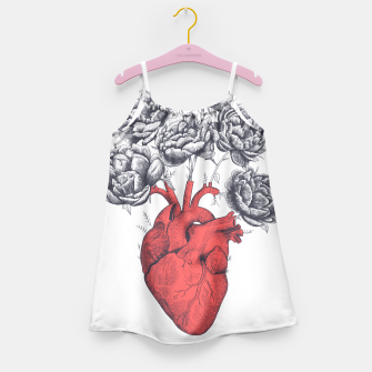 Thumbnail image of Heart with peonies Girl's Dress, Live Heroes