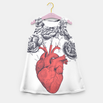 Thumbnail image of Heart with peonies Girl's Summer Dress, Live Heroes