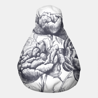 Thumbnail image of Heart with peonies Pouf, Live Heroes