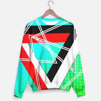 Thumbnail image of Geometric Optical Illusion Fusion Sweater, Live Heroes