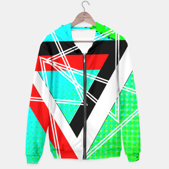 Thumbnail image of Geometric Optical Illusion Fusion Hoodie, Live Heroes