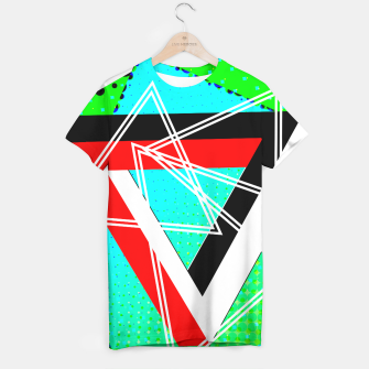 Thumbnail image of Geometric Optical Illusion Fusion T-shirt, Live Heroes