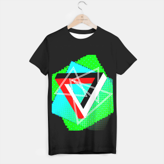 Thumbnail image of Geometric Optical Illusion Fusion T-shirt regular, Live Heroes