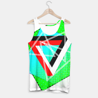 Thumbnail image of Geometric Optical Illusion Fusion Tank Top, Live Heroes