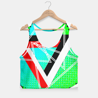 Thumbnail image of Geometric Optical Illusion Fusion Crop Top, Live Heroes