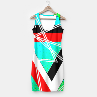 Thumbnail image of Geometric Optical Illusion Fusion Simple Dress, Live Heroes
