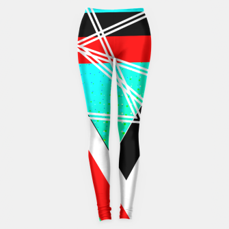 Thumbnail image of Geometric Optical Illusion Fusion Leggings, Live Heroes