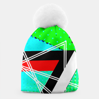 Thumbnail image of Geometric Optical Illusion Fusion Beanie, Live Heroes