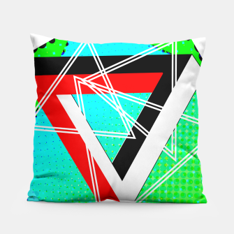 Thumbnail image of Geometric Optical Illusion Fusion Pillow, Live Heroes