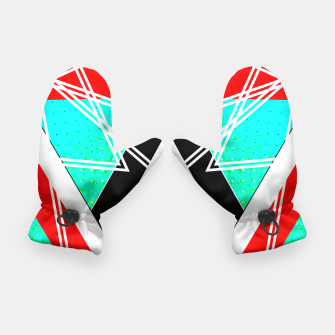 Thumbnail image of Geometric Optical Illusion Fusion Gloves, Live Heroes