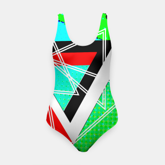Thumbnail image of Geometric Optical Illusion Fusion Swimsuit, Live Heroes
