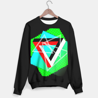 Thumbnail image of Geometric Optical Illusion Fusion Sweater regular, Live Heroes