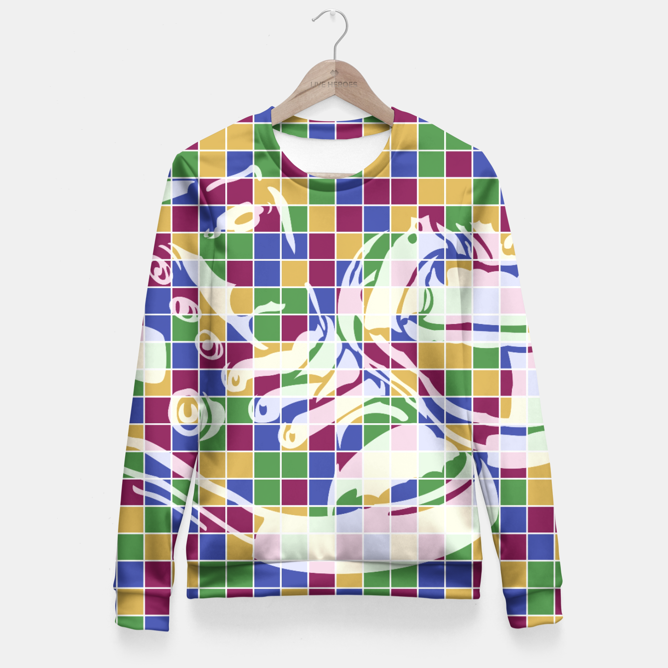 Image of Sneakers (Pattern 01) Fitted Waist Sweater - Live Heroes