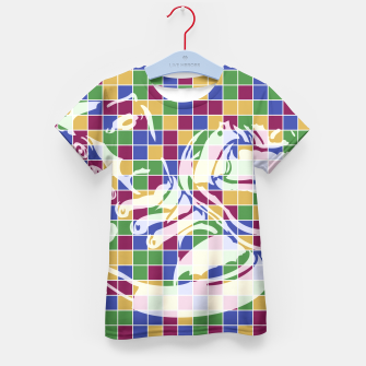 Thumbnail image of Sneakers (Pattern 01) Kid's T-shirt, Live Heroes