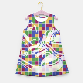 Thumbnail image of Sneakers (Pattern 01) Girl's Summer Dress, Live Heroes