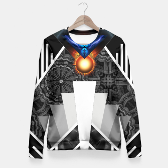 Thumbnail image of Wings Of Lightning Deco Mech Flare Fitted Waist Sweater, Live Heroes