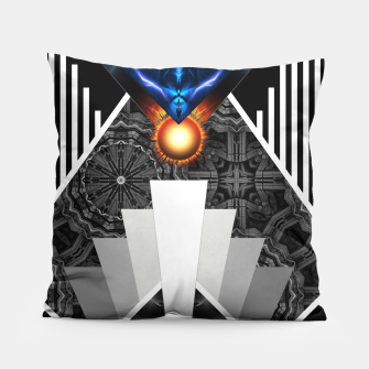 Thumbnail image of Wings Of Lightning Deco Mech Flare Pillow, Live Heroes