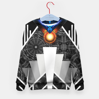 Thumbnail image of Wings Of Lightning Deco Mech Flare Kid's Sweater, Live Heroes