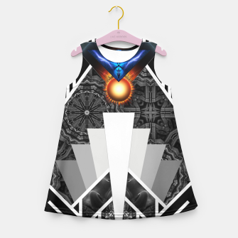 Thumbnail image of Wings Of Lightning Deco Mech Flare Girl's Summer Dress, Live Heroes