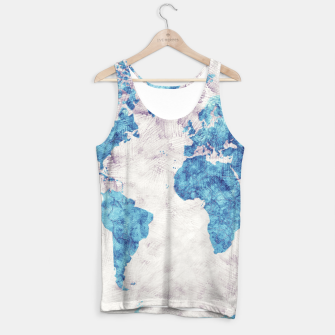 Thumbnail image of world map blue Tank Top, Live Heroes
