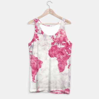 Thumbnail image of world map red Tank Top, Live Heroes