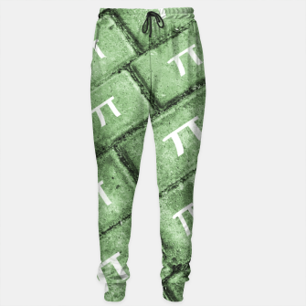 Miniatur Pi Grunge Style Pattern Sweatpants, Live Heroes