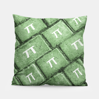 Miniatur Pi Grunge Style Pattern Pillow, Live Heroes