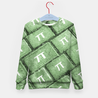 Miniatur Pi Grunge Style Pattern Kid's Sweater, Live Heroes