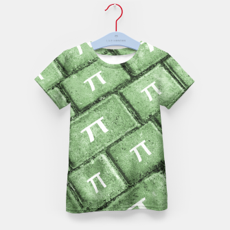 Miniatur Pi Grunge Style Pattern Kid's T-shirt, Live Heroes