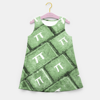 Miniatur Pi Grunge Style Pattern Girl's Summer Dress, Live Heroes