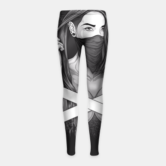 Thumbnail image of Winya No. 100 Girl's Leggings, Live Heroes